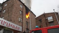 Հրդեհ Կոմիտասի պողոտայում. Բնակարանն ամբողջությամբ այրվել է...