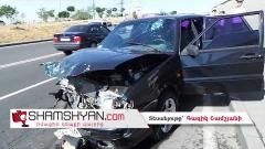 Ավտովթար Երևանում. «Դալմա Գարդեն Մոլ»-ի մոտ բախվել են ВАЗ 21154-ը և ВАЗ 2106-ը