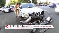 Ավտովթար-վրաերթ Երևանում. բախվել են «Mercedes»-ներն ու «Daewoo»-ն, կա 6 վիրավոր