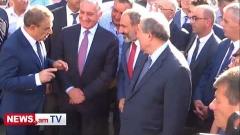 Փաշինյանն Արմեն Սարգսյանի հետ մասնակցում է Արամ Մանուկյանի արձանի բացմանը