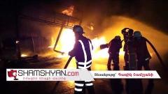 Mercedes մակնիշի ավտոմեքենան բախվել է CPS բենզալցակայանին. հրդեհ է բռնկվել