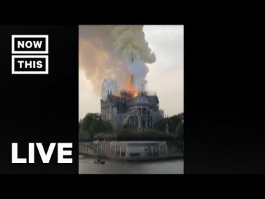 Վառվում է Փարիզի Աստվածամոր տաճար - ՈՒՂԻՂ  Fire Rages at Notre Dame Cathedral in Paris —LIVE STREAM | NowThis