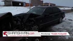 Մերկասառույցի պատճառով խոշոր ավտովթար է տեղի ունեցել Գեղարքունիքում. բախվել են Mercedes-ն ու Opel-ը